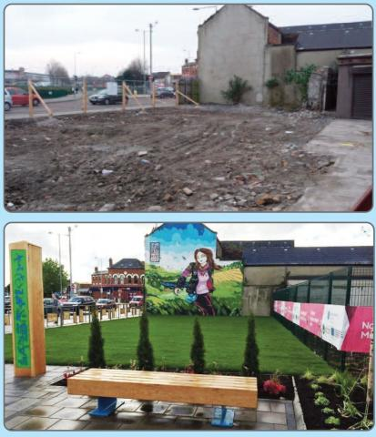 Pocket Park before and after